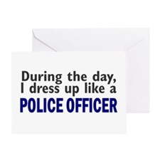 Dress Up Like A Police Officer (Day) Greeting Card