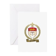 THIBODEAU Family Crest Greeting Cards (Package of