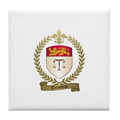 THIBODEAU Family Crest Tile Coaster