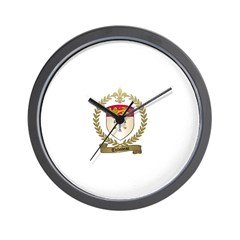 THIBODEAU Family Crest Wall Clock