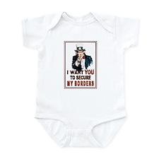 SECURE OUR BORDERS Infant Bodysuit