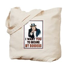 SECURE OUR BORDERS Tote Bag