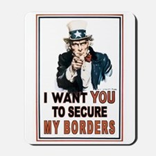 SECURE OUR BORDERS Mousepad
