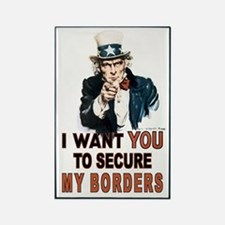 SECURE OUR BORDERS Rectangle Magnet