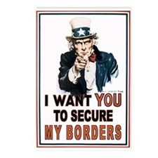 SECURE OUR BORDERS Postcards (Package of 8)
