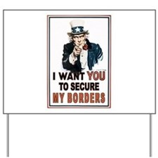 SECURE OUR BORDERS Yard Sign