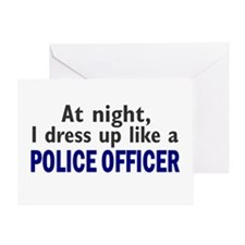 Dress Up Like A Police Officer (Night) Greeting Ca