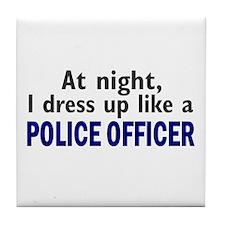 Dress Up Like A Police Officer (Night) Tile Coaste