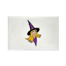 Strawberry Blonde Witch Rectangle Magnet