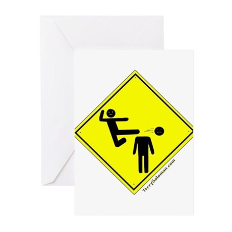 Kick in the Head Zone Greeting Cards (Pk of 10)