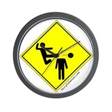 Kick in the Head Zone Wall Clock