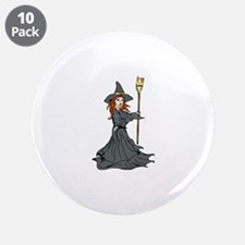 """Wild Witch 3.5"""" Button (10 pack)"""