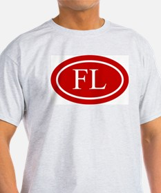 White on Red Florida T-Shirt