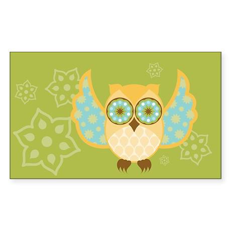 Bohemian Owl - Rectangle Sticker