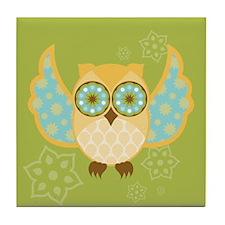 Bohemian Owl - Tile Coaster