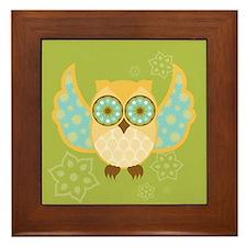 Bohemian Owl - Framed Tile