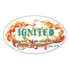 Ignited circle Oval Decal