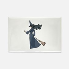 Leaving Witch Rectangle Magnet