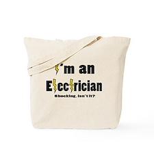 Shocking Electrician Tote Bag