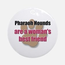 Pharaoh Hounds woman's best friend Ornament (Round