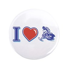 "I Heart Snowmobiling 3.5"" Button"