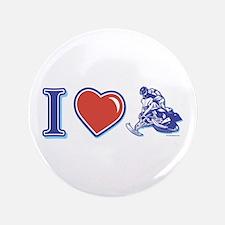"I Heart Snowmobiling 3.5"" Button"
