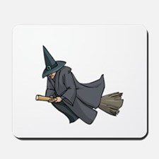 Witch on a Broom Mousepad