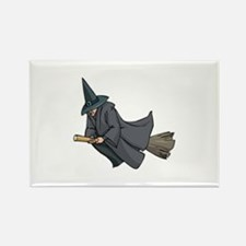 Witch on a Broom Rectangle Magnet