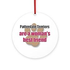 Patterdale Terriers woman's best friend Ornament (