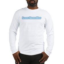 Lone Traveller (blue) - long-sleeved t-shirt