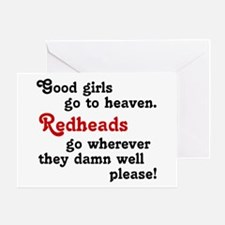 Goodgirls & Redheads Greeting Card