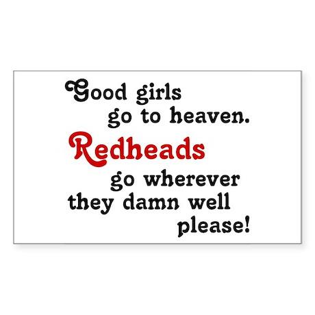 Goodgirls & Redheads Rectangle Sticker