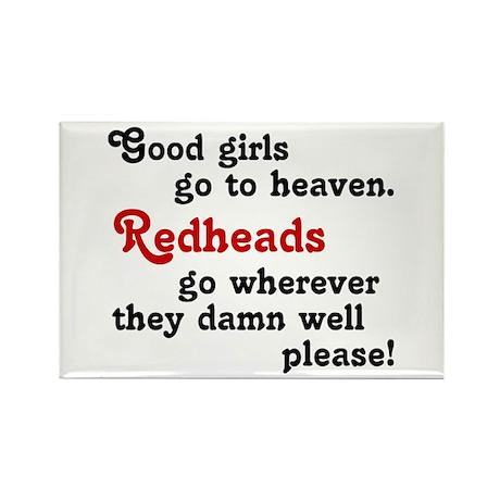 Goodgirls & Redheads Rectangle Magnet