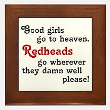 Goodgirls & Redheads Framed Tile