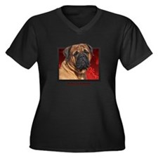 Bullmastiff Women's Plus Size V-Neck Dark T-Shirt