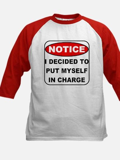 Put Myself in Charge Kids Baseball Jersey