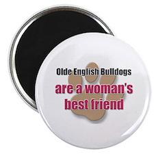 Olde English Bulldogs woman's best friend Magnet