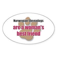 Norwegian Sheepdogs woman's best friend Decal