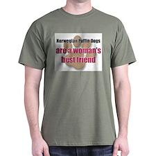 Norwegian Puffin Dogs woman's best friend T-Shirt