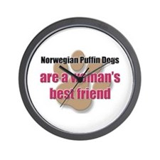 Norwegian Puffin Dogs woman's best friend Wall Clo
