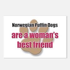 Norwegian Puffin Dogs woman's best friend Postcard