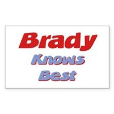 Brady Knows Best Rectangle Decal