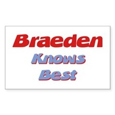 Braeden Knows Best Rectangle Decal