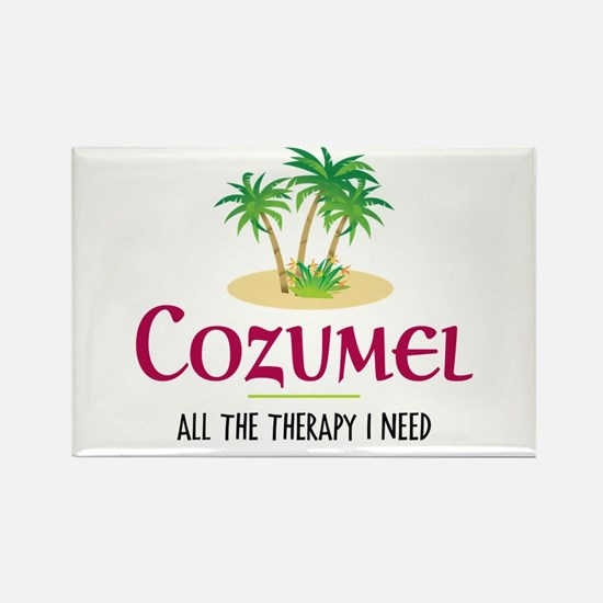 Cozumel Therapy - Rectangle Magnet
