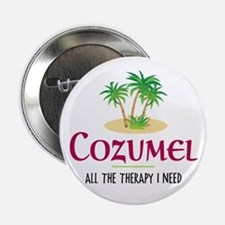 "Cozumel Therapy - 2.25"" Button"