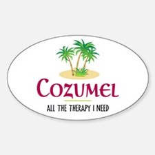 Cozumel Therapy - Oval Decal