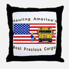 Unique School bus driver Throw Pillow