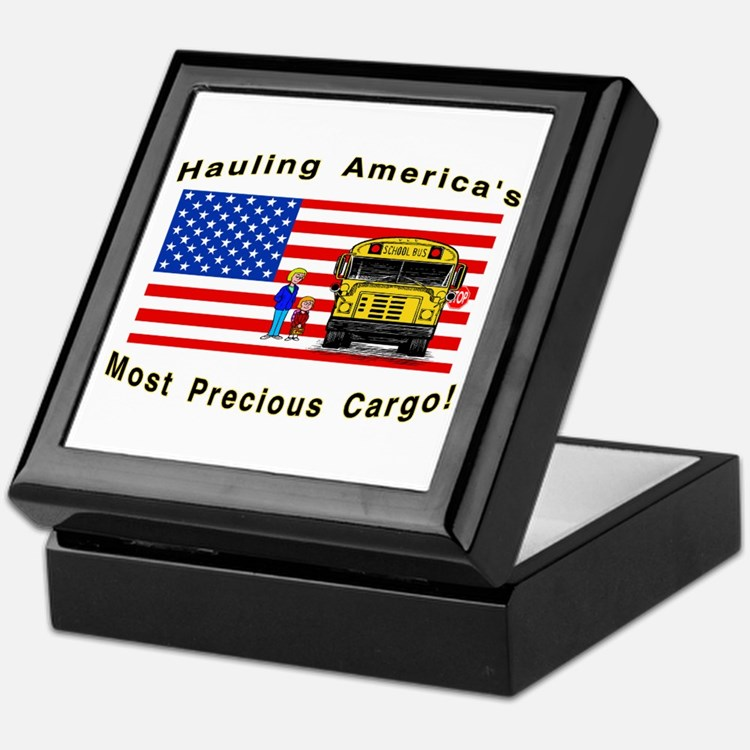 Cute School bus driver Keepsake Box