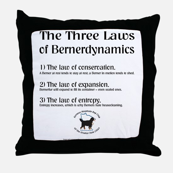"""""""Three Laws"""" Throw Pillow (2 of 2)"""