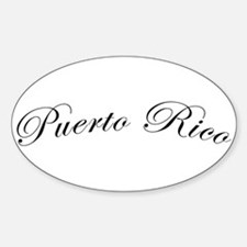 Puerto Rico Oval Stickers